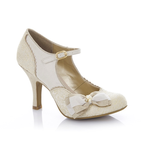 Ruby Shoo Maria Cream and Gold
