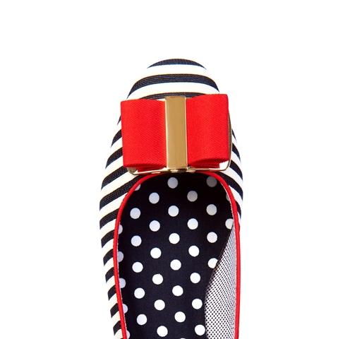 Ruby Shoo June Block Heel Shoe Black/White Stripe