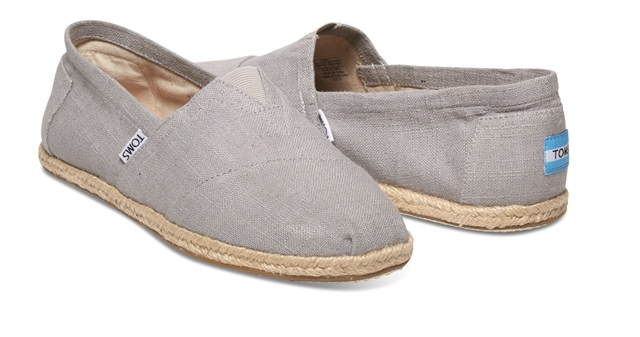 Toms Women's Classic Grey Linen Rope Sole 10008381