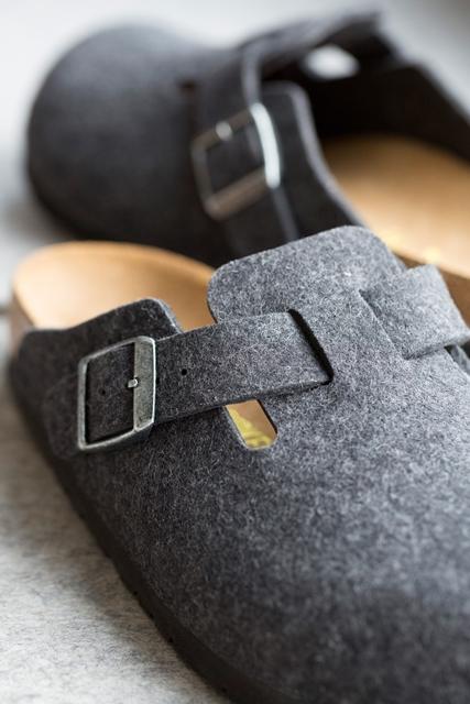Birkenstock Boston wool-dark grey