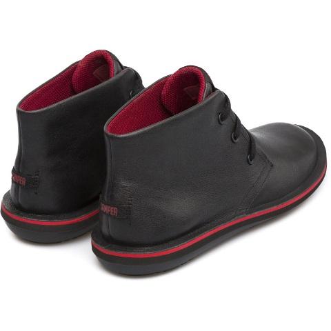 Camper Men's Beetle boot in Black leather 36530-008