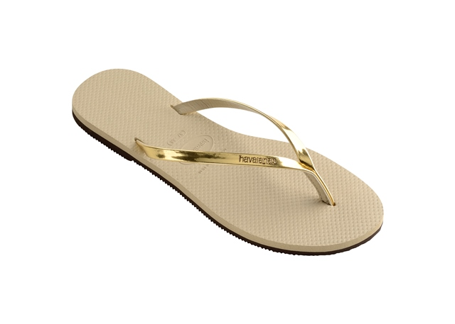 Havaianas Women's H. You Met flip flops in Sand/Gold