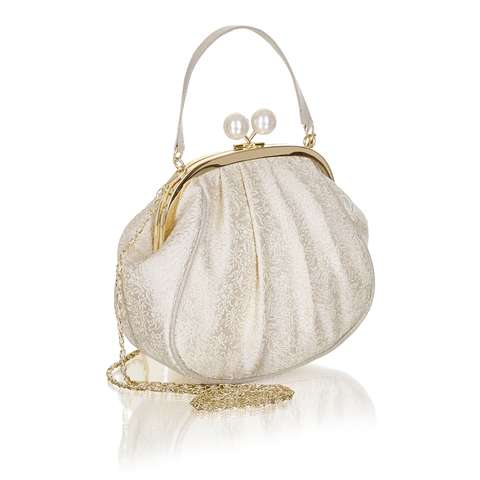 Ruby Shoo Arco Bridal Bag Gold/Cream