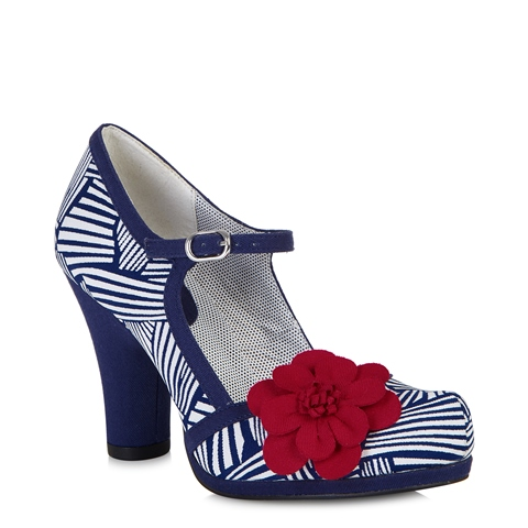 Ruby Shoo Women's Tanya Heels in Navy/White