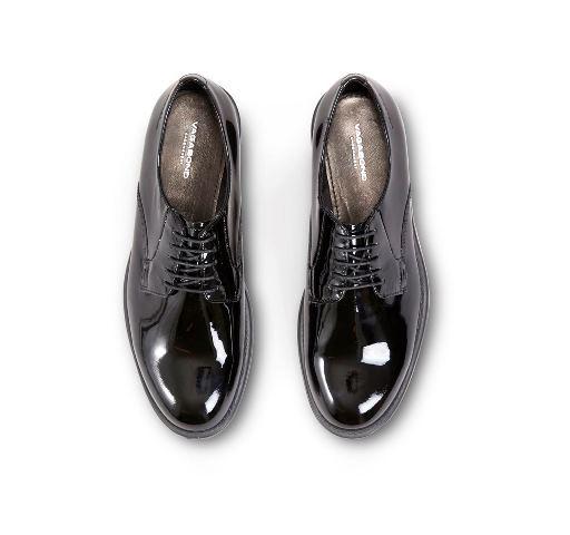 Vagabond Amina Black Patent Leather Lace Up Shoe