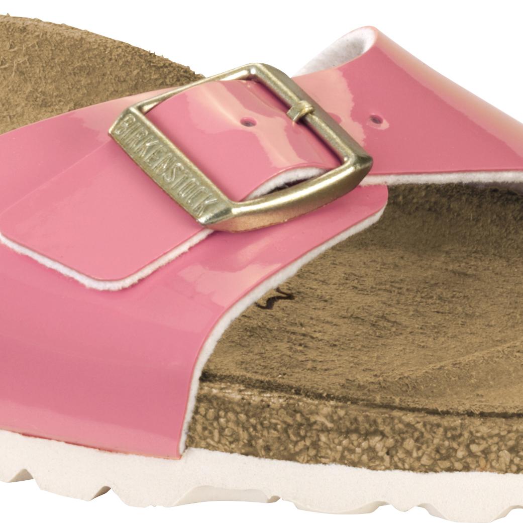 Birkenstock Madrid Coral Patent 2 tone sandal