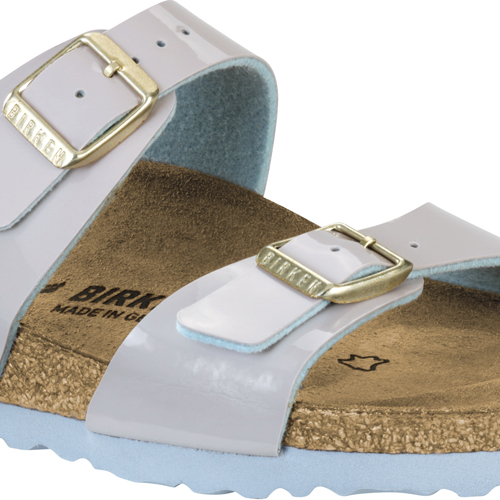 Birkenstock Sydney 2 Tone Light Grey Patent