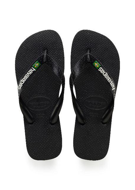 Havaianas Mens Brasil Logo Flip Flop-Black