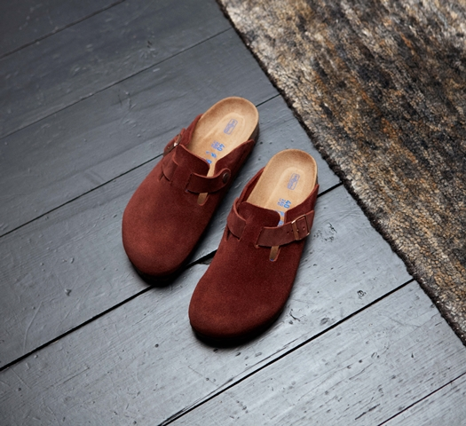 Birkenstock Boston soft footbed-port suede
