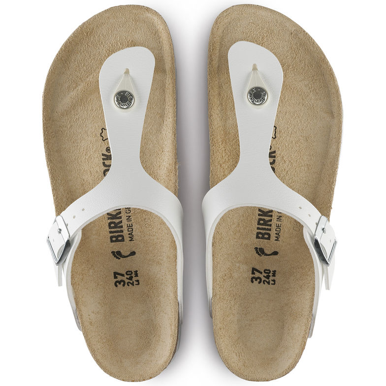 Birkenstock birko-flor Gizeh white sandal