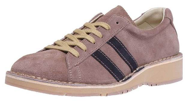 Fly London Camm retro trainer-Sand/Navy suede