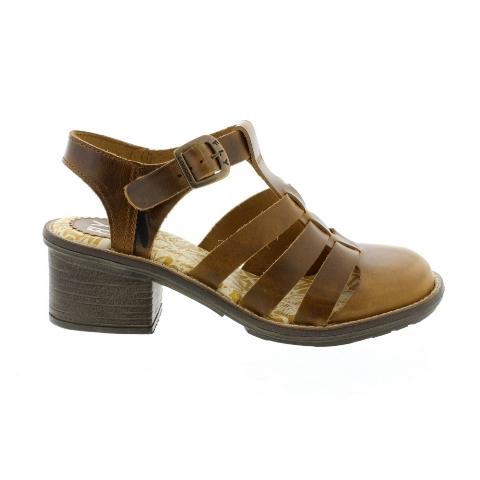 Fly London Celo-strappy clog sandal-Camel