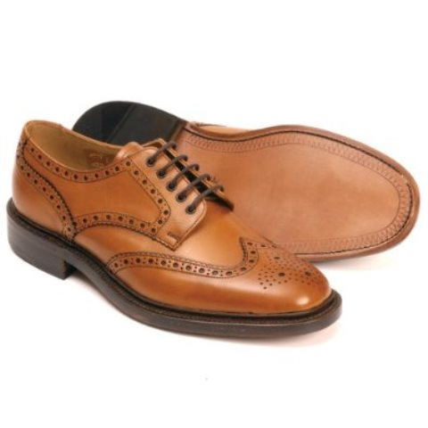Loake Chester Leather Sole Brogue Tan