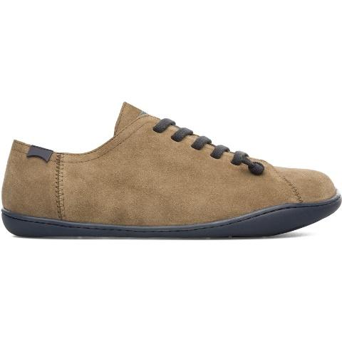 Camper Men's Peu Cami Shoe in khaki suede-17665-126