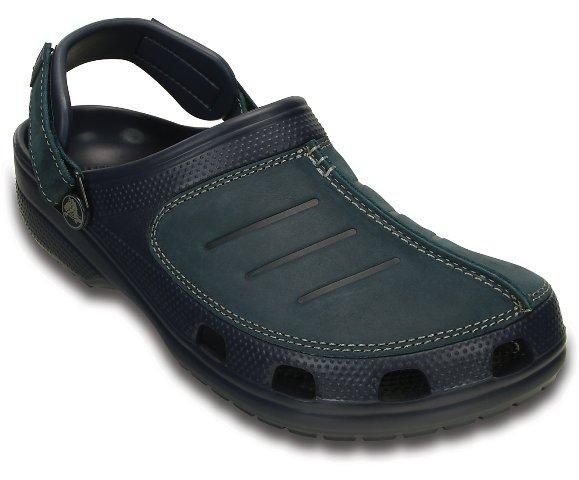 Crocs Yukon Mens-Navy leather