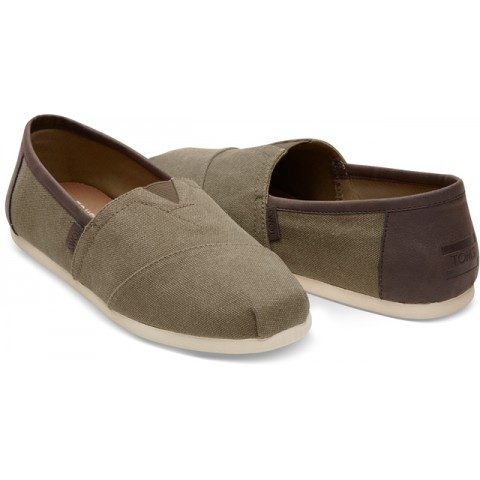Toms Men's Classic Olive Washed Canvas/Trim