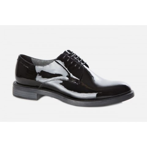 Vagabond Amina Black Patent Leather Lace Up Shoe