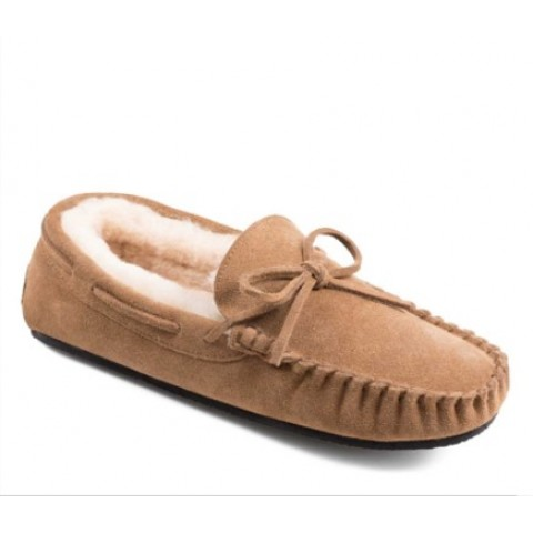 Peter Werth Newman Moccasin Suede/Sheepskin Slippers