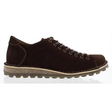 Fly London Mopy Men's Dark Brown Suede Shoe
