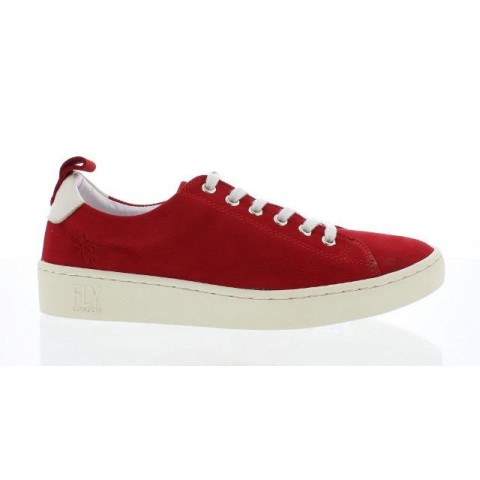 Fly London Maku Women's Red Nubuck Trainer