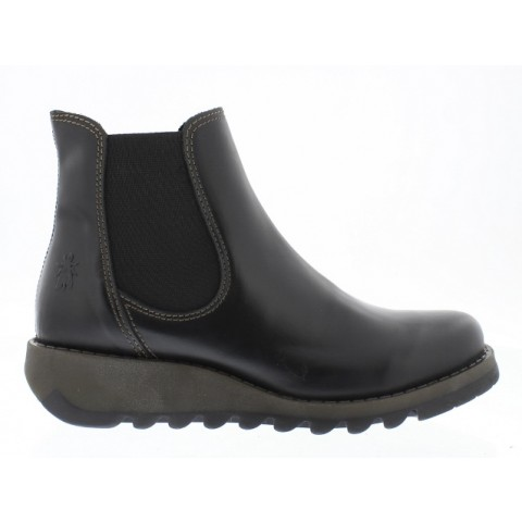Fly London Salv Black leather chelsea boot