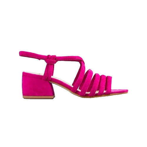 bf1ba1a4b03 Vagabond Saide Block Heel Strappy Sandal Purple Suede
