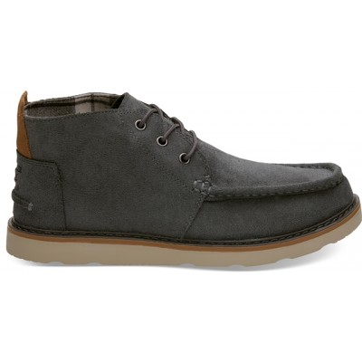 Toms Waterproof Chukka - Grey Oil Suede