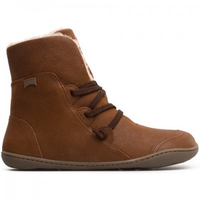 Camper Peu Cami Fur lined boot -tan