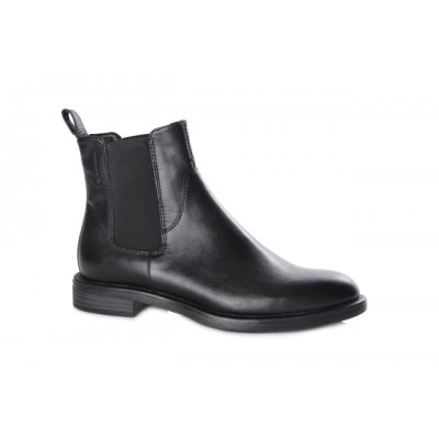 Vagabond Women's Amina Plain Leather Chelsea Boot Black