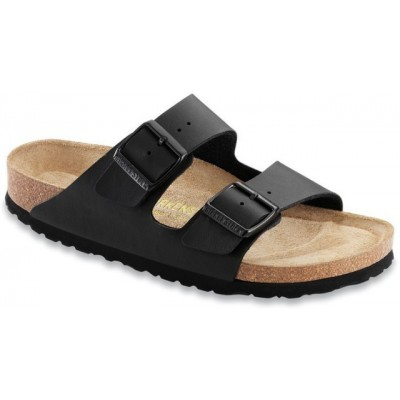 Birkenstock Men's Arizona in Black Birkoflor