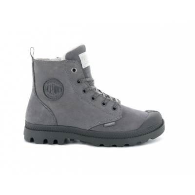 Palladium Ladies Pampa Hi Zip Boot - Grey