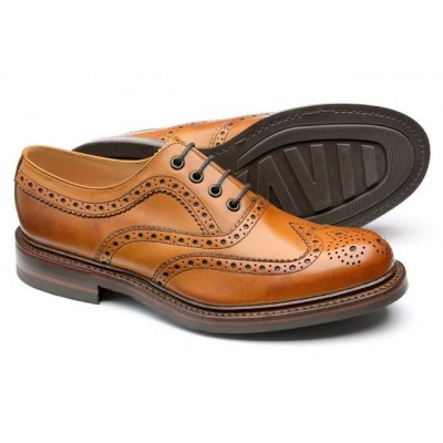 Loake Edward Brogue Tan Leather