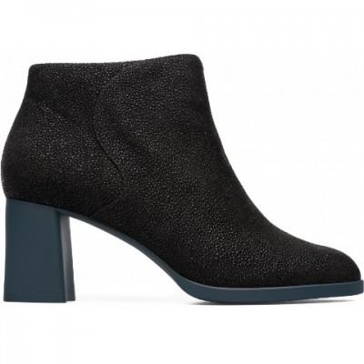 Camper Kara Heel Boot Black/Blue