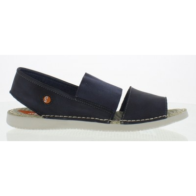 Softinos Tai Sandal in Washed Navy Leather