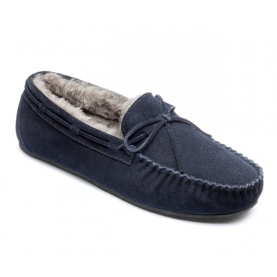 Peter Werth Newman Moccasin Suede/Sheepskin Slipper