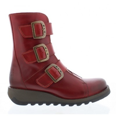 FLY London SCOP Mid Calf Boot - Red