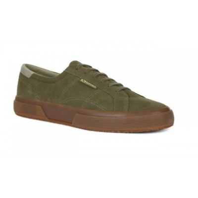 Superga 2386 SUEDE FGL Khaki with Gum Sole