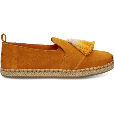 Toms Women's Deconstructed Alpargata Rope in Saffron Suede