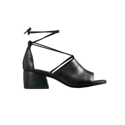 Vagabond Saide Black Leather Heeled Sandals