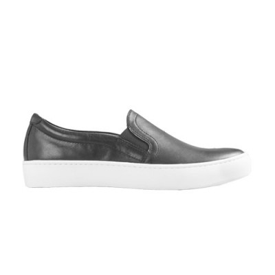 Vagabond Zoe Black Leather Slip-on Pump