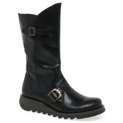 Fly London Women's Mes 2 Black Mid Calf Boot