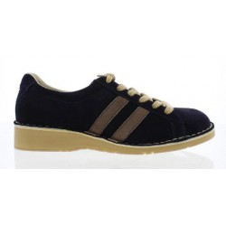 Fly London Cam Men's Lace Up Shoe in Navy/Taupe