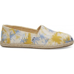 Toms Women's Classic Birch Tropical Palm Rope Sole