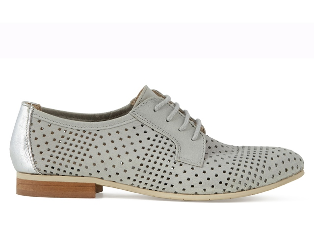 Esska Echo women's Brogue shoe-Grey Leather