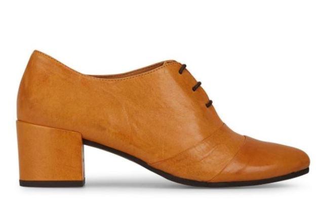 Esska Katia Lace Up Heeled Shoe Mustard