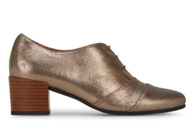 Esska Katia Lace Up Heeled Shoe- Silver