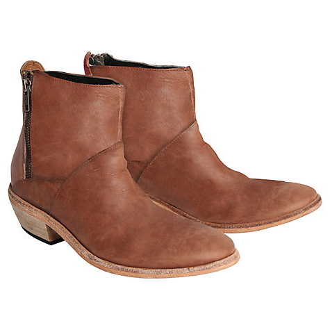 c742a2e98 H by Hudson Women s Fop Tan Leather Ankle Boot
