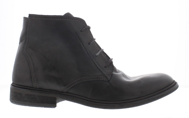 Fly Hobi Men's Leather Lace up Ankle Boot Black