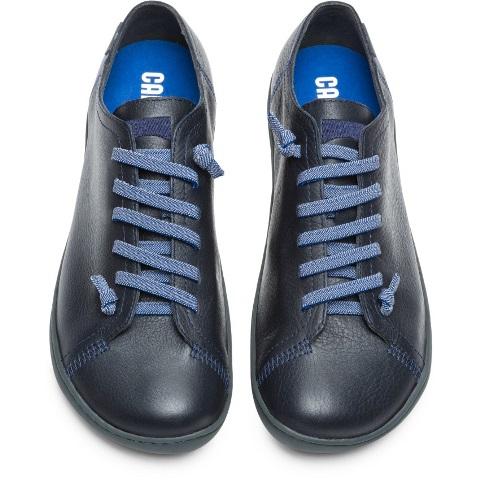 Camper Men's Peu Cami Navy Leather Shoe K100300-001