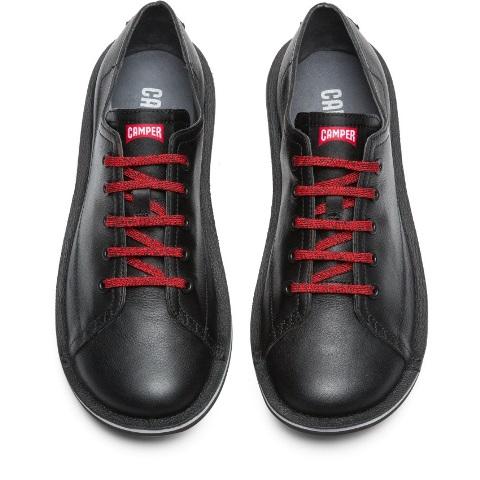 Camper Men's Beetle Black Leather Shoe K100307-002